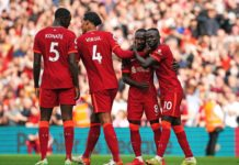 Sadio Mane scored his 100th for Liverpool, as they cruised past Crystal Palace with a 3-0 victory at Anfield.