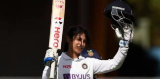 AUS-W v IND-W: India post 276/5 on day 2 of Pink-Ball Test; Smriti Mandhana scores a ton
